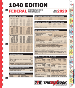 The 2020 Tax Book Edition. CLICK HERE!